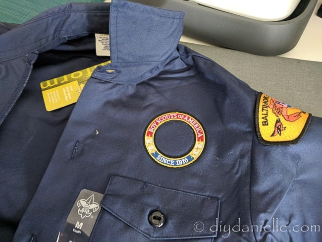 How to Sew or Iron on Boy Scout Patches - DIY Danielle