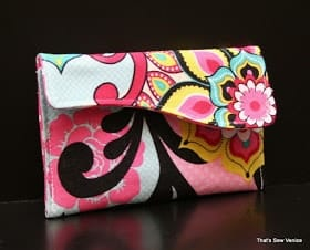Mini wallet that could be a fun party favor to sew.