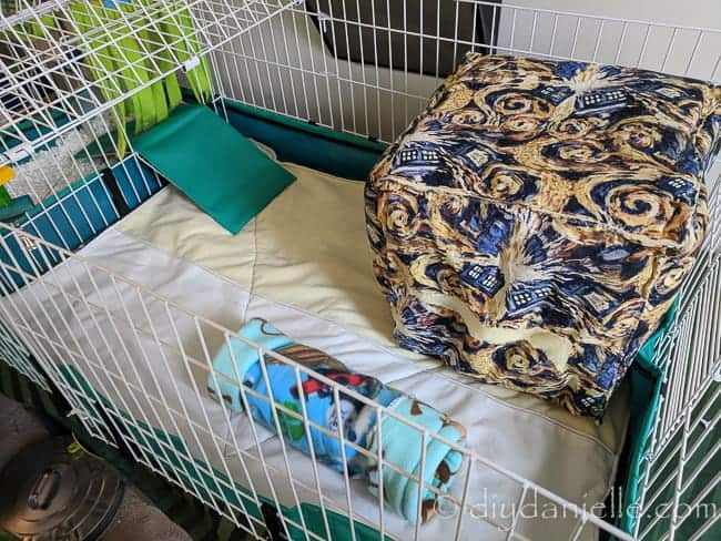 fleece cage liners sew