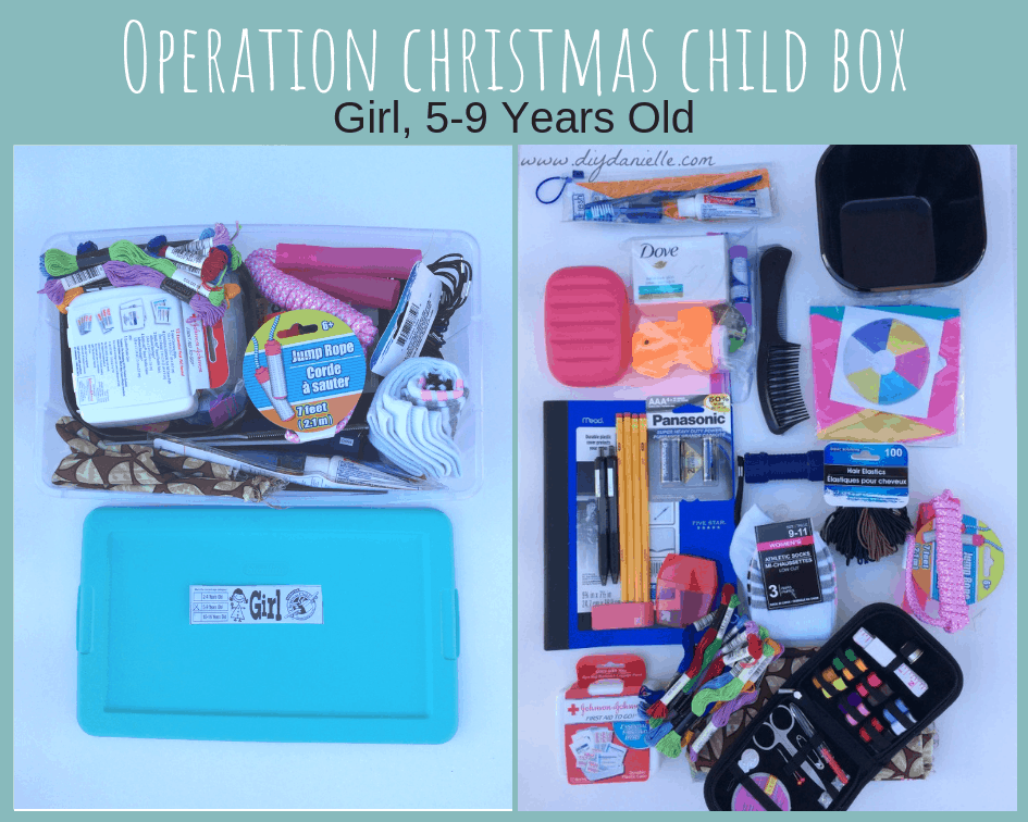 Operation Christmas Child Shoe Box for 5-9 year old.