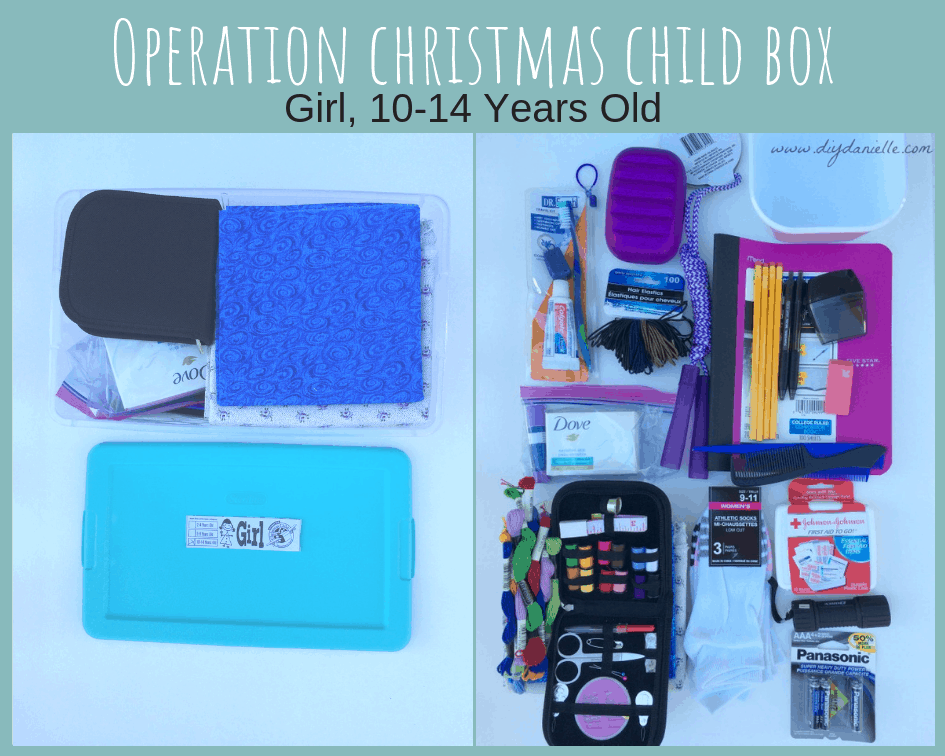Operation Christmas Child Shoe Box for Girls, 10-14 years old