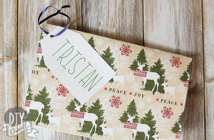 Hanging card with an experience gift inside!