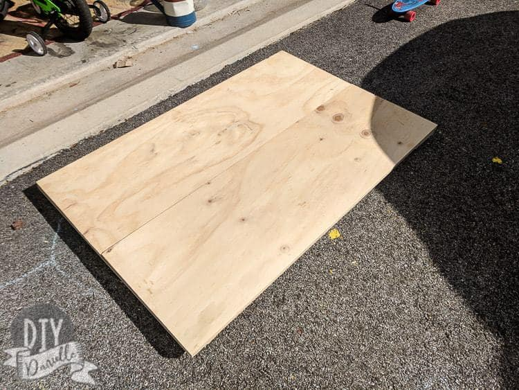 Base for the cage made from plywood.