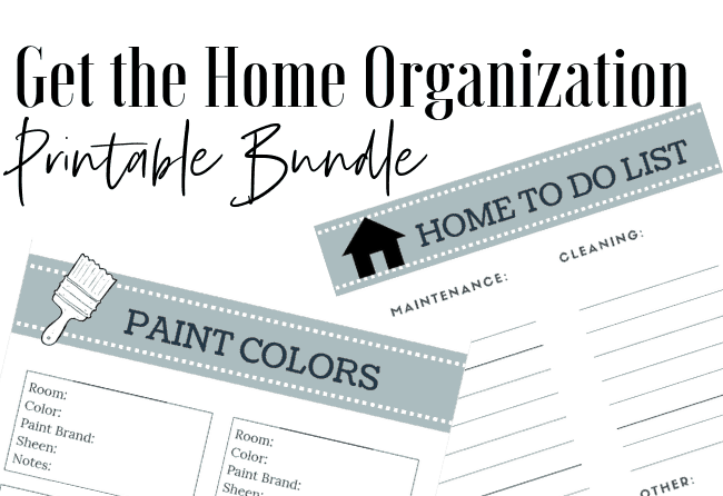 Printable home renovation planner. SUCH a cute way to track home updates!