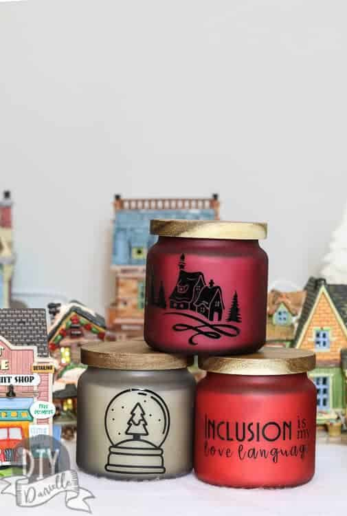 Lovely gift for special education teachers. 'Inclusion is my love language' is my favorite candle design. Learn how to make them!