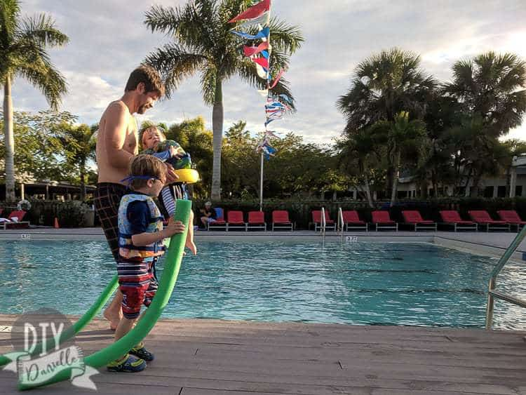 3'-8' pool at Club Med in Florida.