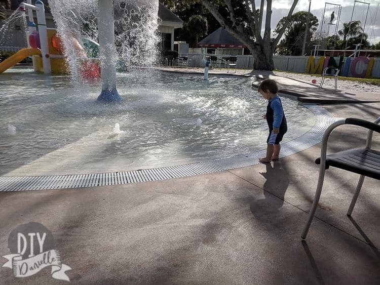 Splash pad for kids 10 and under at Club Med