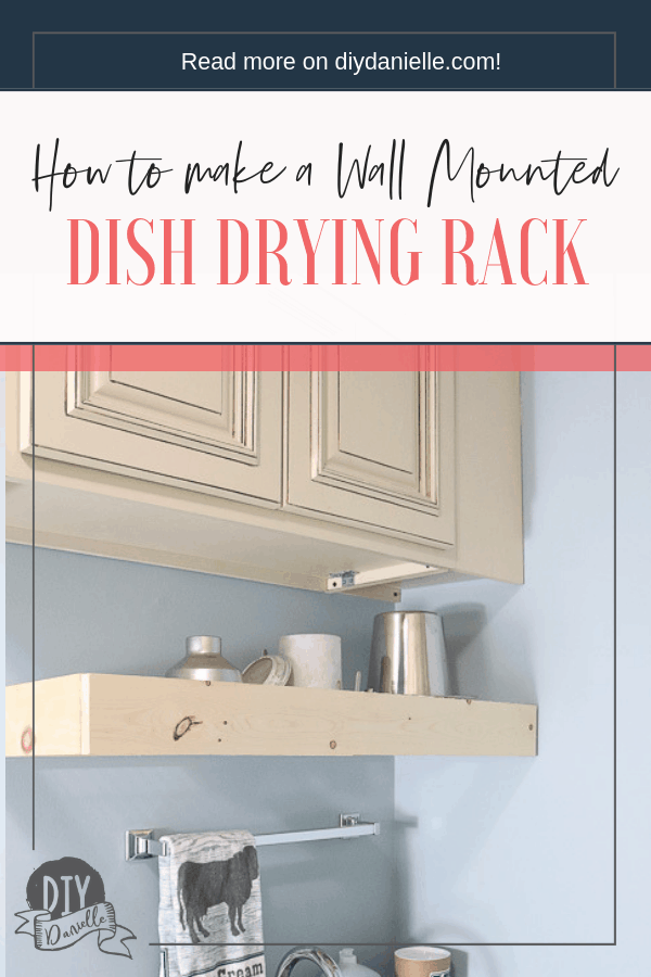 DIY Drying Rack for a Small Mudroom Wash Area. Perfect for milking supplies, but this would also be great for a pumping room at work or a small kitchen.