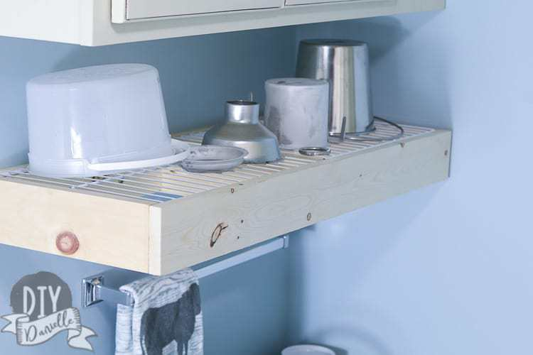 wall mounted dish drying rack  of