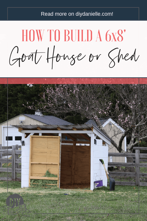 How to build a 6x8' goat house or shed. This project cost around $550 to complete.