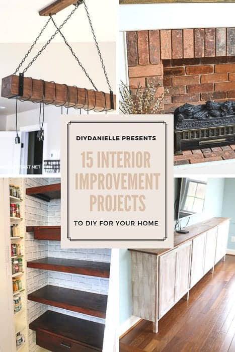 15 interior home improvement projects to diy diy danielle. Black Bedroom Furniture Sets. Home Design Ideas