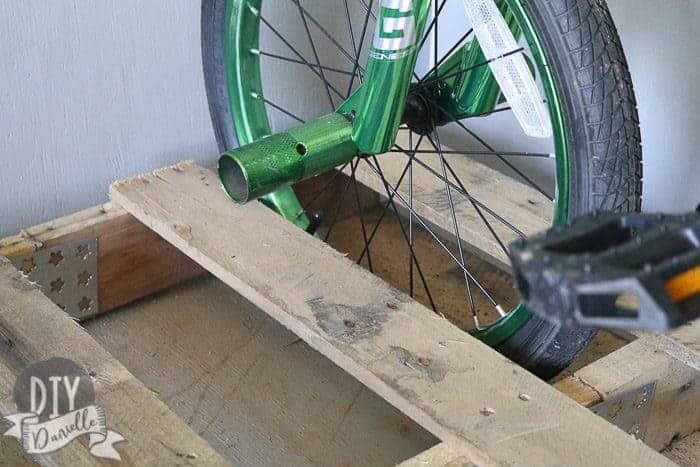 Pallet for bike rack.