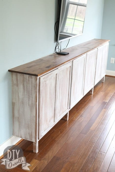 Easy Living Room Storage Cabinets - DIY Danielle