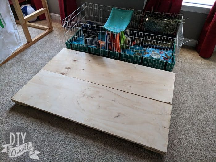 Guinea Pig cage base for the Midwest cage. I probably should have finished this, but I opted not to at this point.
