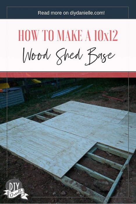 How to make a 10x12 wood shed base that is level.