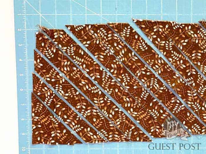 Cut your fabric into strips.