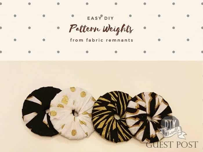 Easy DIY Pattern Weights made from fabric and washers.
