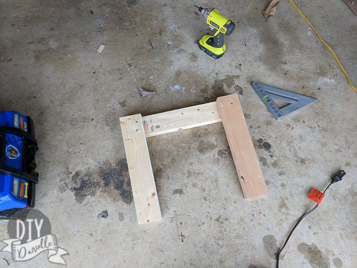 Legs and short side of the frame for the milking stand.