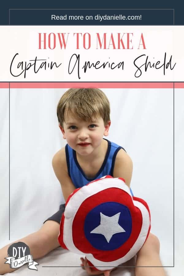 Captain America Shield DIY: This easy to make pillow shield is perfect for kids!