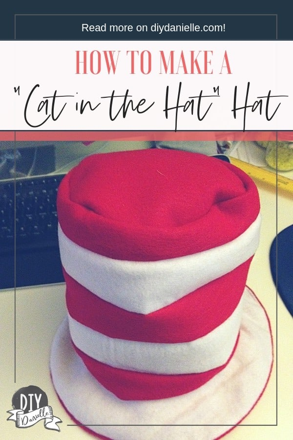 How to make a Cat in the Hat Hat. Super easy project to sew for your child or yourself.