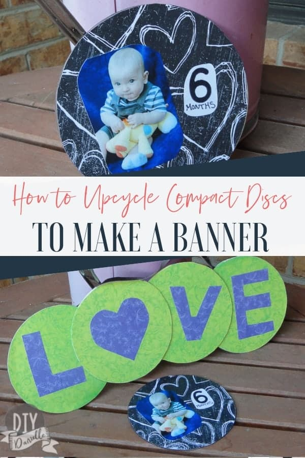 Ideas for upcycling old compact discs. Love the banner and monthly baby photo idea!