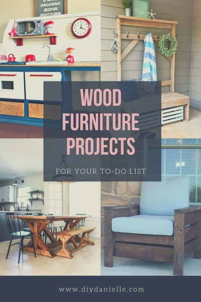 Wood furniture projects to put on your to-do list. Learn how to create these fantastic DIY's with detailed tutorials.