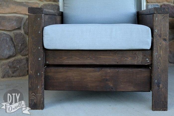 wood outdoor chair diy  of