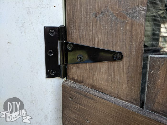 Farmhouse gate hinges for the screen door... x3.