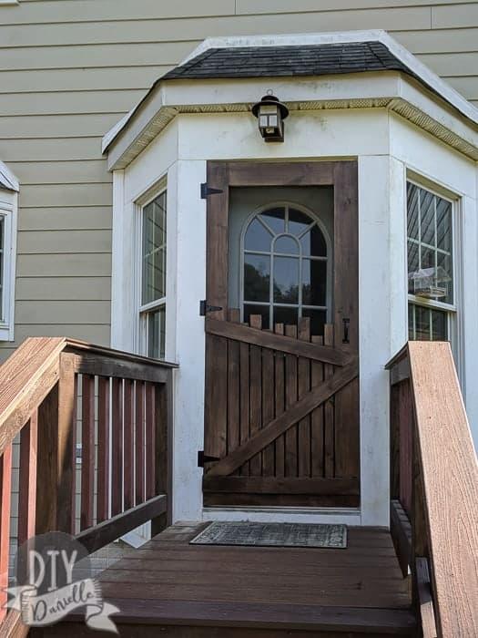 DIY Screen Door: The BEST Farmhouse Style wood screen door.