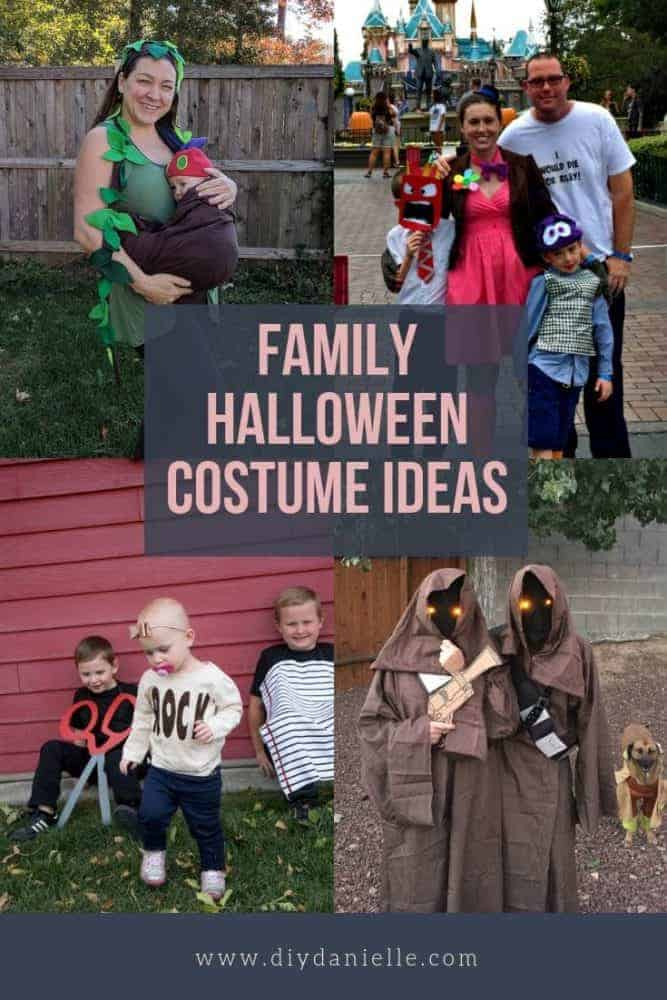 Matching Halloween costumes for the family.  Great ideas for 2019!