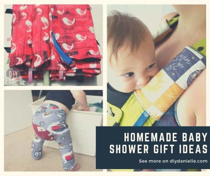 Ideas for baby shower gifts that you can make! These easy handmade baby gifts are fun for mom and baby.