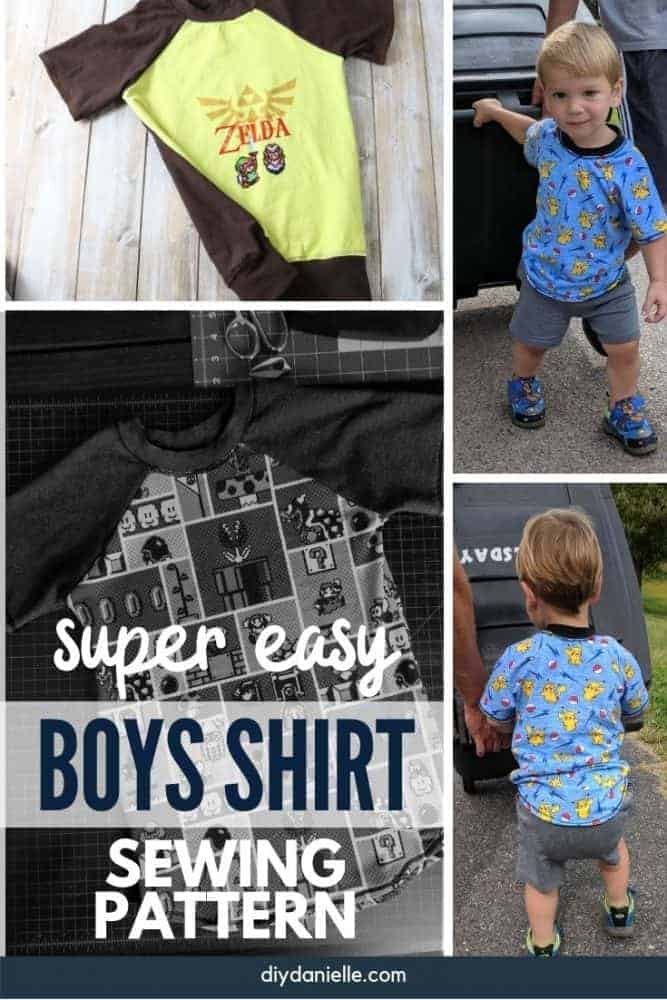 Boy's Shirt Pattern: Jolly Roger Raglan from Patterns for Pirates. Several shirts made with the pattern and a review.
