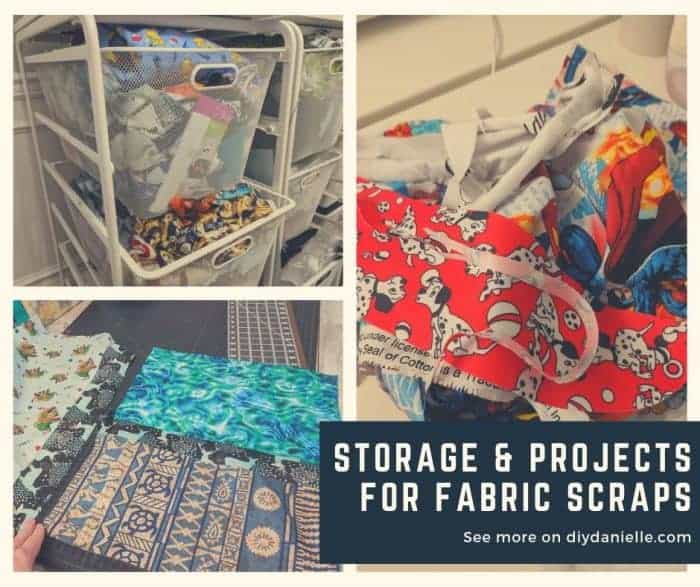 Ways to store, use and recycle fabric scraps and remnants!