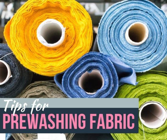 Tips for prewashing fabric: ends of bolts of fabric.