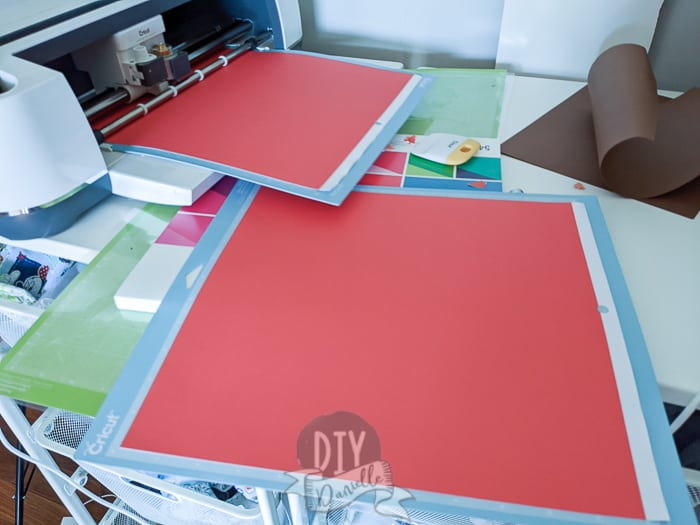 Using two Cricut mats to help speed up the process of invitation making.