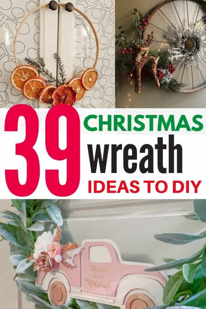 39 Christmas Wreath Ideas that are easy to DIY!
