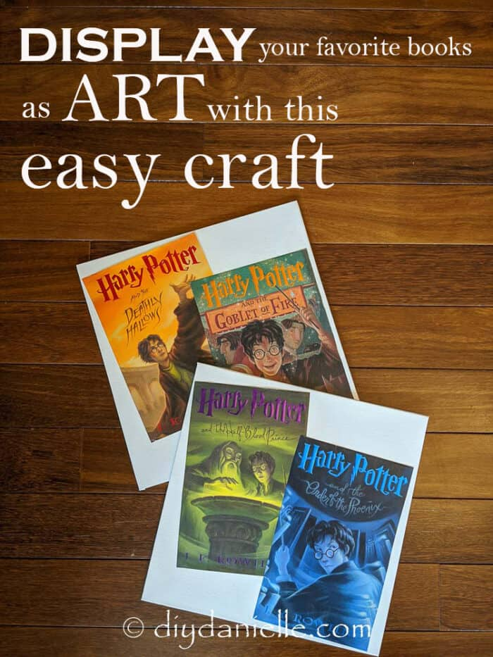 Display your favorite books as art with this easy craft that uses dust jackets!
