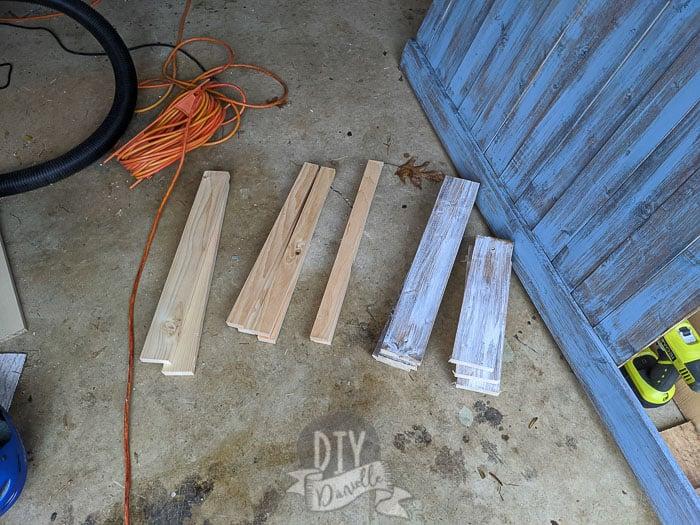 Wood cut for the bookshelf.