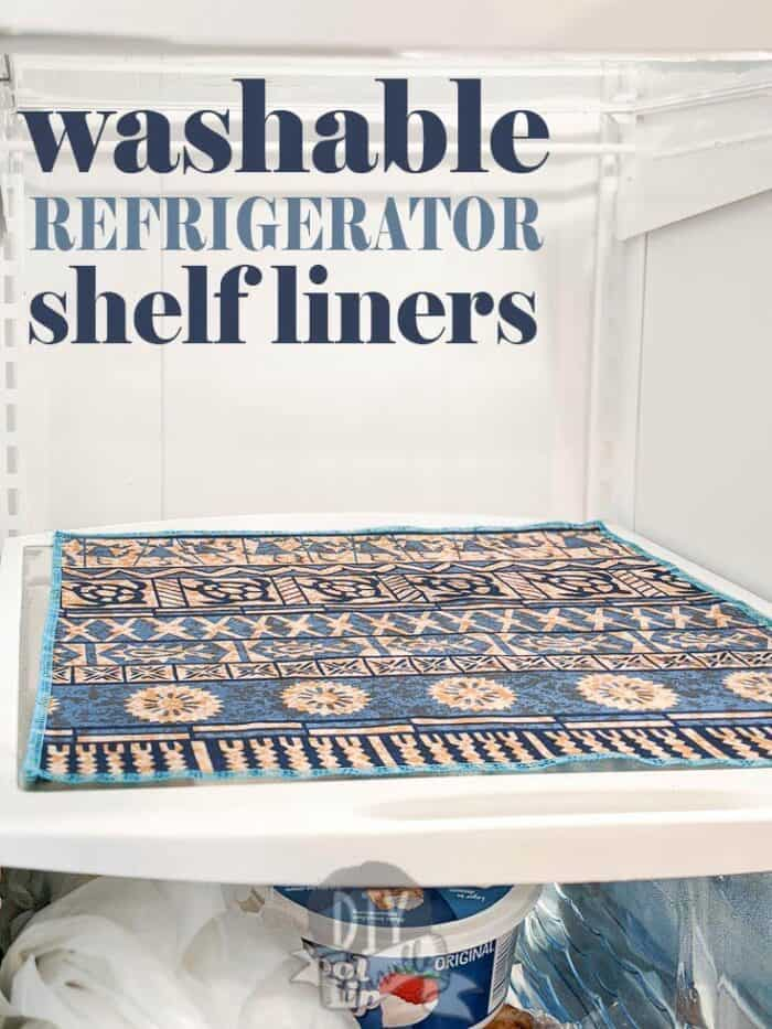 This tutorial will cover how to make easy, reusable, and washable refrigerator mats using PUL fabric. This is a great way to use extra PUL if you have some laying around from making cloth diapers. It's also a great item to make to help make cleaning your refrigerator fast and easy. I found having two sets to be perfect for easily swapping out liners on cleaning day.