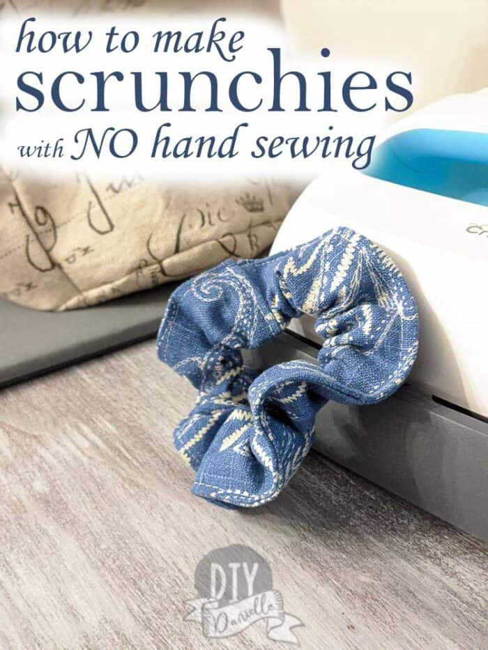 How to make scrunchies with NO hand sewing.