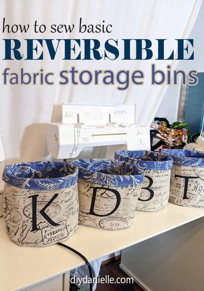 How to sew basic reversible fabric storage bins that are circular!