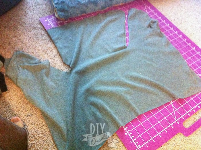 T-shirt cut out for diaper