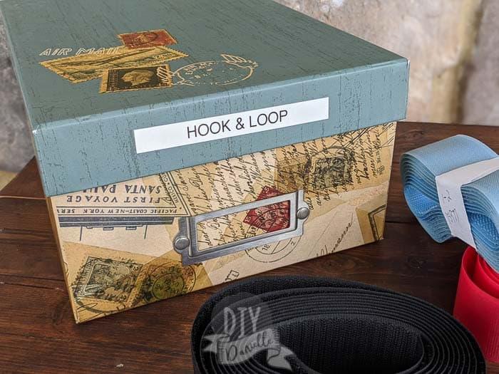 My box of hook and loop.