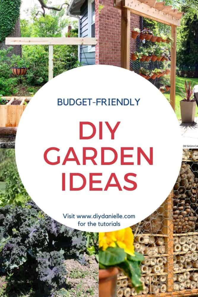 pin image with 4 diy garden ideas