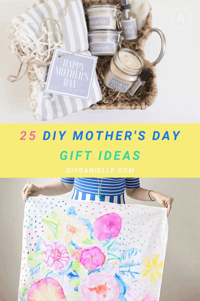 diy mother's day collage of two with yellow center frame