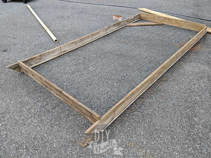 Bottom frame for the chicken tractor.