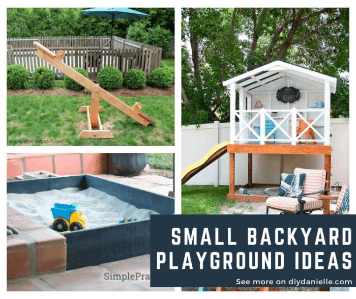 Small Backyard playground ideas for kids!