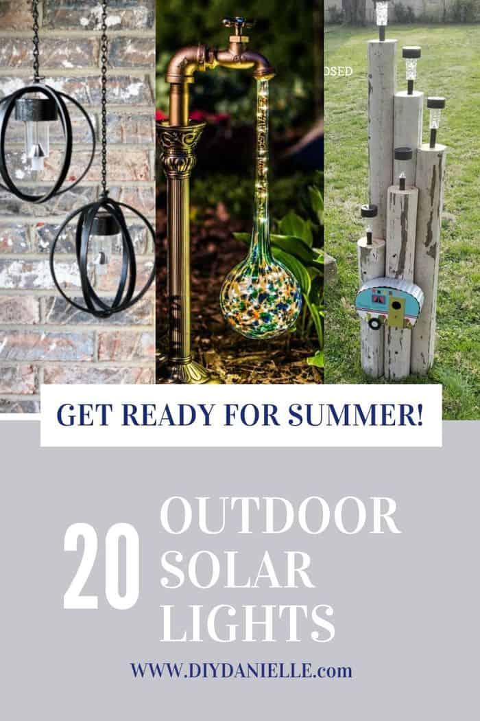 outdoor solar lights pin image
