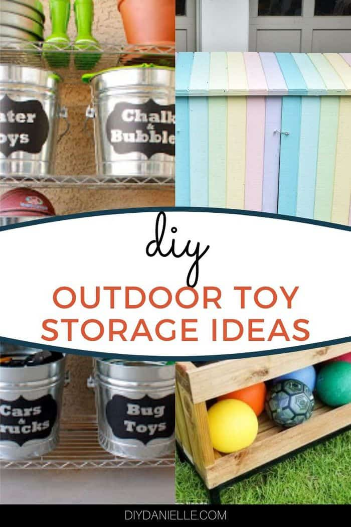 diy toy storage ideas collage