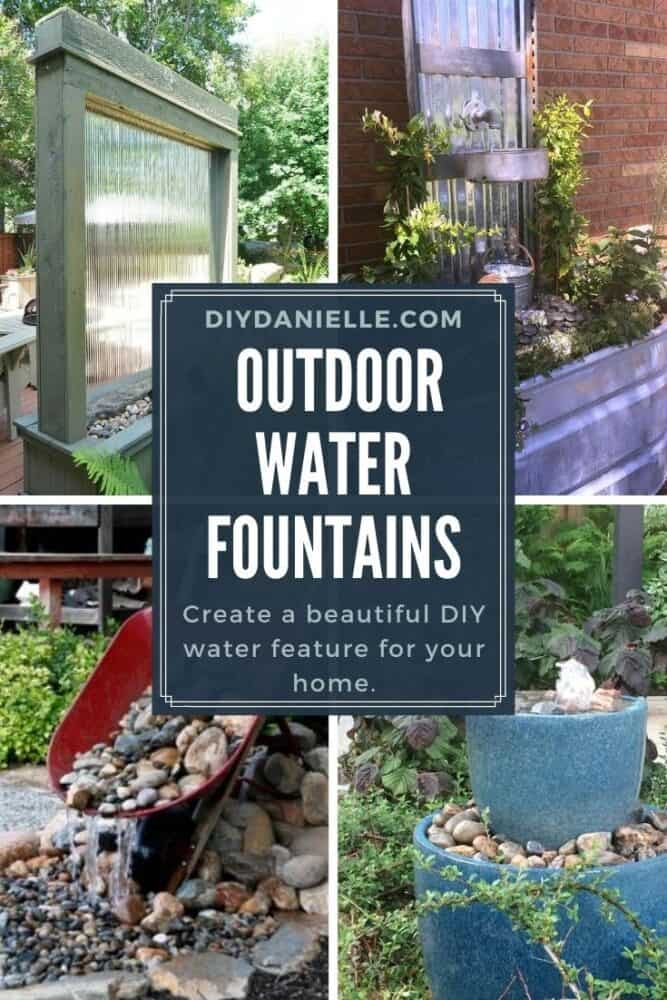 DIY Water fountain for your outdoor space